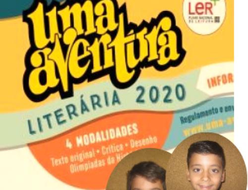 """1º Prémio no Concurso """"Uma Aventura Literária 2020"""