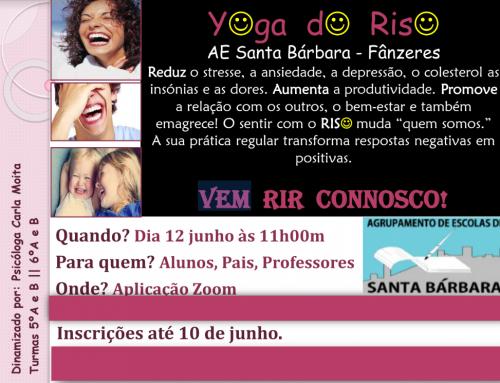 YOGA DO RISO – ATIVIDADE das turmas:  5º A e B | 6º A e B – 12 de JUNHO