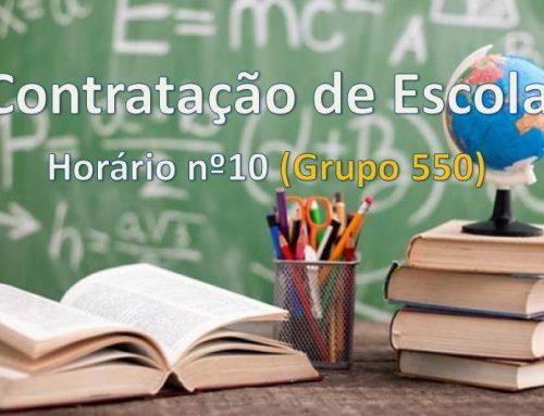 Contratação de Escola – Grupo 550