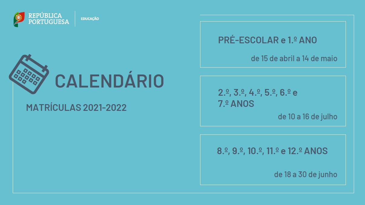 MATRÍCULAS 2021-2022 – Agrupamento de Escolas de Santa Bárbara